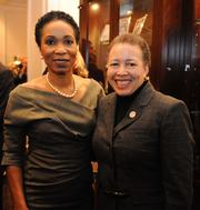 Helene Gayle, president and CEO of CARE USA, left; and Beverly Tatum, president of Spelman College.