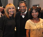 Barbara Babbit Kaufman, CEO of BBK Enterprises Inc., from left; Ambassador Andrew Young; and Cathy Selig of Selig Enterprises.