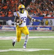 LSU running back Jeremy Hill on the move.