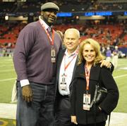Shaquille O'Neal former LSU basketball star and former NBA player; Phillip Fulmer, former Tennessee football head coach and his wife, Vikki Fulmer.