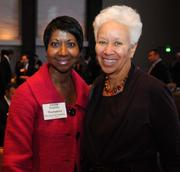 Frances Thompkins with The Coca Cola Co. and Veronica Biggins, managing partner at Diversified Search.