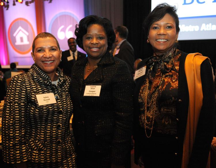 Sylvia Russell with AT&T, Shan Cooper with Lockheed Martin and Shirley Mitchell with Bank of America.