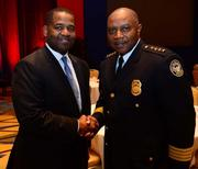 Ceasar C. Mitchell, president of the Atlanta City Council, and George N. Turner, Atlanta Police Chief.