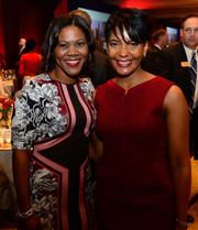 Keisha Lance Bottoms ,Atlanta City Council, with Candace Byrd, chief of staff for Mayor Kasim Reed.