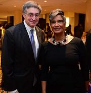 Sheffield Hale, president and CEO of Atlanta History Center, with Camille Love, of the Department of Parks, Recreation and Cultural Affairs.