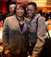 Bernice King, daughter of Dr. Martin Luther King Jr., with Danita Knight, public relations and fundraising consultant.