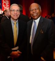 Larry Gellerstedt, president of Cousins Properties Inc., with Dr. Louis W. Sullivan, president emeritus of the Morehouse School of Medicine.