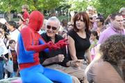 Spiderman with his creator, Stan Lee.
