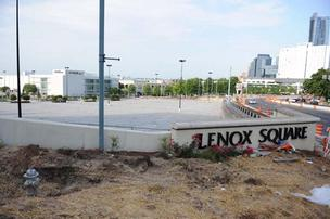 This intersection could become home to several new mixed-use buildings that bring retail closer to Lenox and Peachtree.