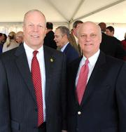 Mike Davis, mayor of Dunwoody, and Brandon Beach, president and CEO of the Greater North Fulton Chamber of Commerce.