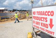 Workers must keep the construction site free and clear of foreign objects and debris.