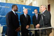 (Left to Right) Atlanta Mayor Kasim Reed, Ga. Gov. Nathan Deal, PulteGroup Chairman, President and CEO Richard Dugas Jr. and Metro Atlanta Chamber President Sam Williams.