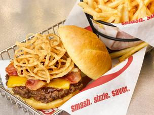 Smashburger BBQ bacon cheeseburger