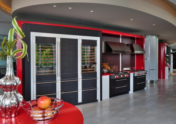 Wine storage and cooktops.