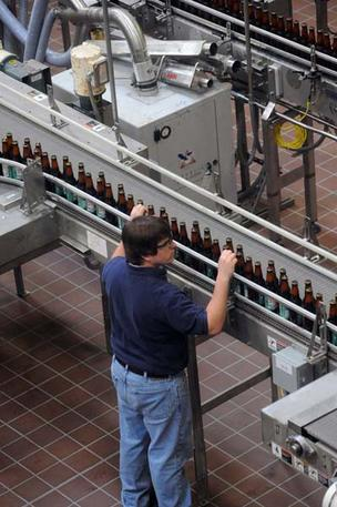 SweetWater Brewing Co.'s production line.