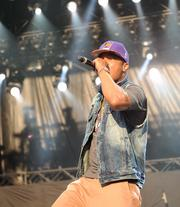Atlanta's own hip hop star T.I. got the Friday evening crowd at Music Midtown bouncing with a more than hour-long show.