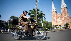 UPS uses many different modes of transportation to deliver packages throughout the world.