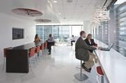 Open spaces and bright natural light for meeting.