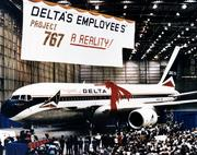 "Delta employees raised $30 million in the 1980s to buy ""The Spirit of Delta,"" Delta's first Boeing 767. It was donated to the company and today is the largest item in the company's museum."