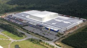 IKEA on Tuesday flipped the switch on a solar energy system at its distribution center near Savannah, Ga.