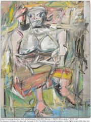 """Willem de Kooning's abstract expressionism """"Woman, I"""" from 1950."""