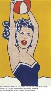 """Roy Lichtenstein's pop art """"Girl With Ball"""" from 1961"""