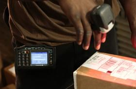 United Parcel Service Inc.'s new wearable scanning system for its package handling employees.