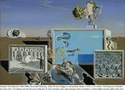 "Salvador Dali's surrealist painting ""Illuminated Pleasures"" from 1929."