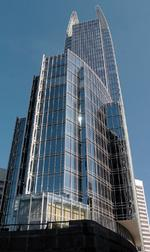 1180 Peachtree was a LEED first, known for 'elegant glass fins'
