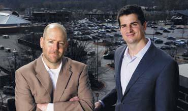 Raising funds: Jack Haylett and Jesse Shannon of Branch Properties.