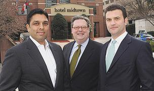 'A special market': Mit Shah, from left, Rodney Williams and Benjamin Brunt of Noble Investments.