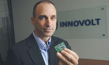 Innovolt: Its microprocessor can be embedded in electronic devices to guard against damage from most power interruptions, company President Jeffrey Spence says.