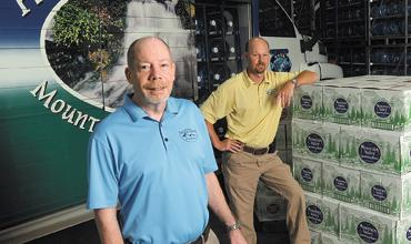 Winning team: Lane Jones, left, and Shane Taylor own the company recently named Small Business of the Year.