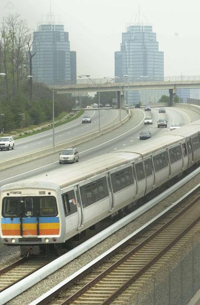 Georgia 400: MARTA is studying running heavy rail, light rail or bus rapid transit within existing right of way for 11.9 miles from the North Springs MARTA station in Dunwoody north to Windward Parkway.