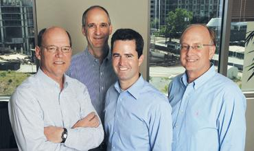 MSouth Equity Partners: Mark Feidler, from left, Bart McLean, Peter Pettit and Michael Long's firm closed a $437M fund.