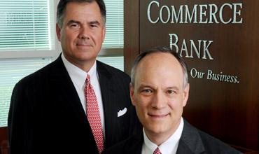 "Mark Tipton, left, and Rodney Hall: ""Our strategy has proven to be a good one because we're here today, and we're expanding,"" says Tipton, chairman and CEO of Georgia Commerce Bank."