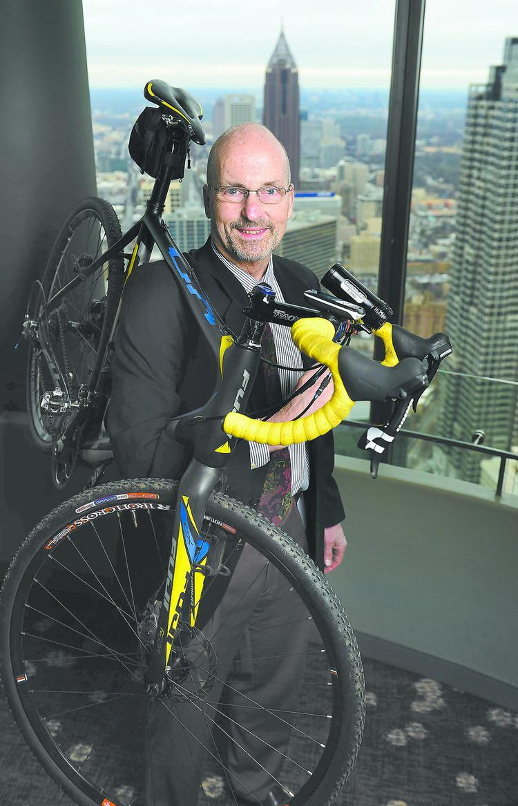 Ron Tarson, general manager of  The Westin Peachtree Plaza, uses two wheels to commute to work.