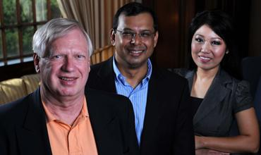 CTW's partners: Sig Mosley Jr., from left, Palaniswamy Rajan and Wei-Chun Tai.