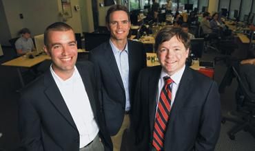 Atlanta Ventures Accelerator: Johnson Cook, from left, David Cummings and Jamie Hamilton want to help fledgling firms that are no more than an idea on the back of a napkin with money and training.