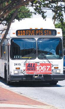 Gas-powered: Buses, like this MARTA bus, are a good fit for natural gas conversion.