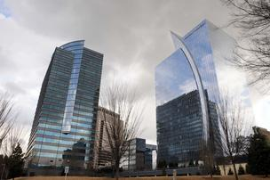 Alliance Center, with One and Two Alliance towers in the foreground.
