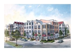 Kaufman Realty Group and Atlantic Realty Partners are redeveloping the aging Georgian Hills Apartments in south Buckhead. In its place — a new 288-unit mid-rise apartment project.