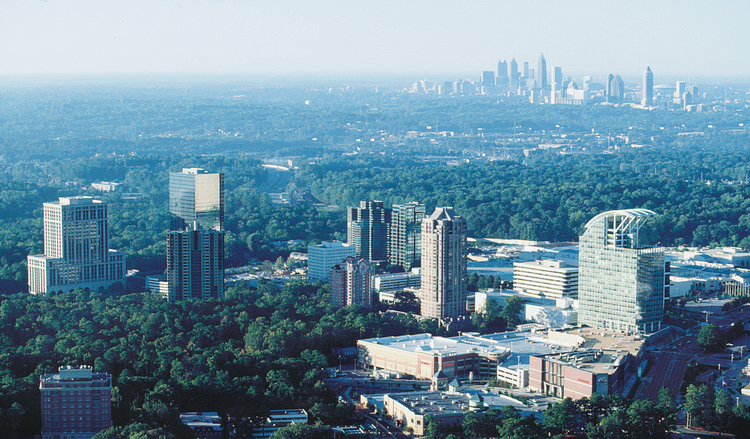 Buckhead, with Midtown and downtown in the distance