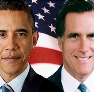Obama has a slim lead over Romney.