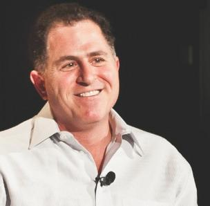 Michael Dell likes where his company is headed.