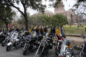 Various motorcycle enthusiast organizations converged on the Capitol Monday to make their case for more funding for motorcycle safety programs.
