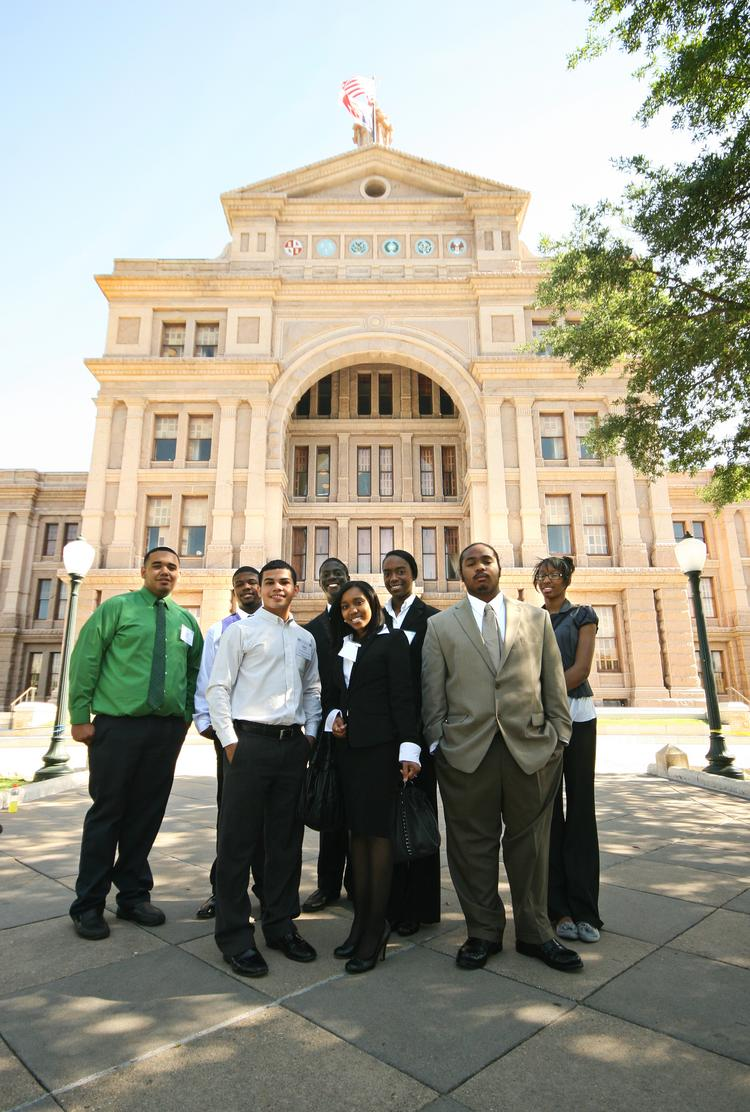 Texas Alliance of Boys and Girls Clubs' eight youth of the year finalists -- the highest honor a club kid can achieve -- at the Capitol in April 2012.