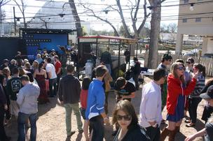 Thousands of South By Southwest attendees poured into BlackBerry's promotional command center on Rainey Street over the weekend.