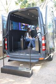 A BlackBerry vehicle on Rainey Street enabled South By Southwest attendees to get a glimpse of the features included in the company's new Z10 smartphone being released later this month.