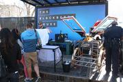 Visitors to the BlackBerry House on Rainey Street lined up for free T-shirts Sunday afternoon as part of the Canada-based company's promotion of its new smartphone.